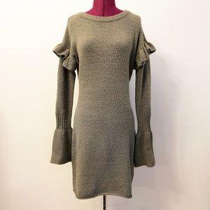 Romeo & Juliet | Long Sleeve Ruffle Sweater Dress